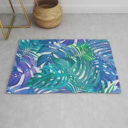 Exotic Palm Leaves Rug