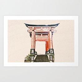 ArtWork Fushimi Inari Art Painting Kyoto Japan Art Print