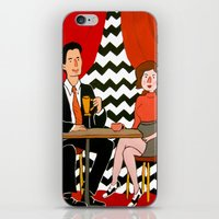 twin peaks iPhone & iPod Skins featuring Twin Peaks by Jen Berry