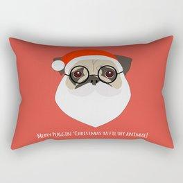 Merry Puggin Christmas Rectangular Pillow