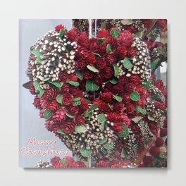 Crafted Christmas Heart Metal Print