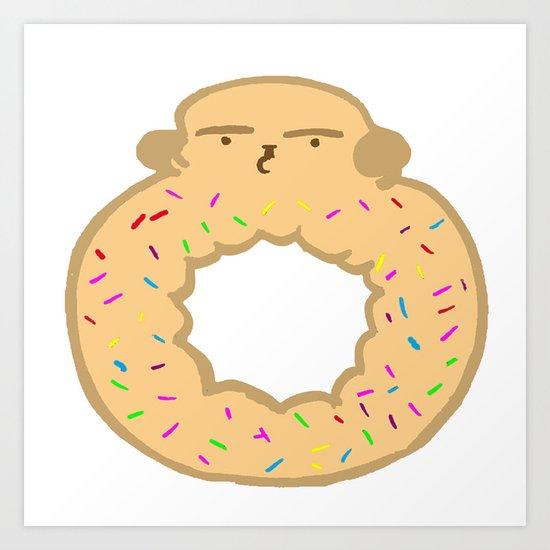 Bovi-doughnut Art Print