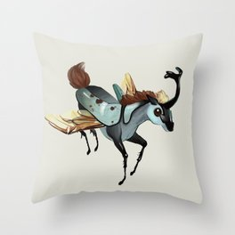 Tiny Unicorn (1 of 3) Throw Pillow