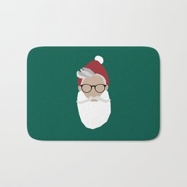 Hipster Santa Bath Mat