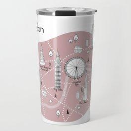 Mapping London - Pink Travel Mug