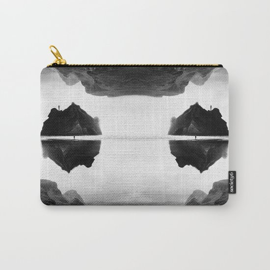 Black and White Isolation Island Carry-All Pouch