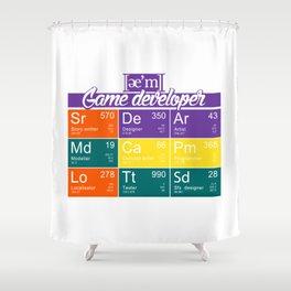 ae'm Game developer Shower Curtain