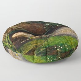 Ophelia - John Everett Millais Floor Pillow