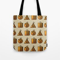 bee Tote Bags featuring BEE DIFFERENT by Huebucket
