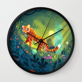 Tiger in the Garden of Kings Wall Clock