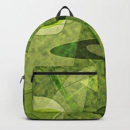 Retro Style Avocado Green Abstract Backpack