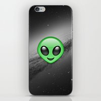 emoji iPhone & iPod Skins featuring Alien Emoji by Nolan Dempsey