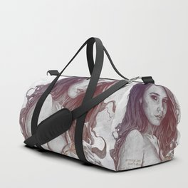 You Lied: Rainbow (nude girl with mehndi tattoos) Duffle Bag