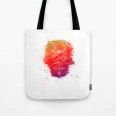 Rainbow Splatter Skull Tote Bag