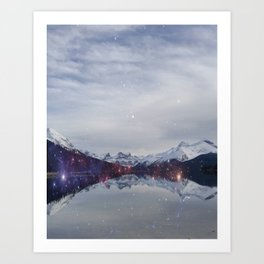 Mystical Mountains Art Print