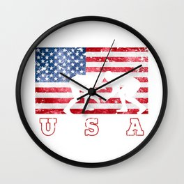 Team USA Wrestling on Olympic Games Wall Clock
