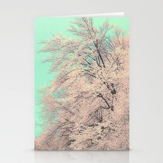 Snow tree Stationery Cards