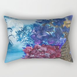 Treehouse and the other side Rectangular Pillow