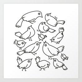 Bird Mania Art Print
