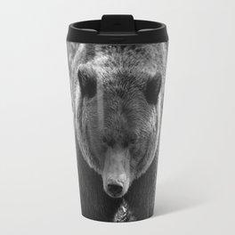 Grizzly Bear - B & W Travel Mug