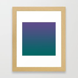Ultra Violet Quetzal Green Gradient Pattern Framed Art Print