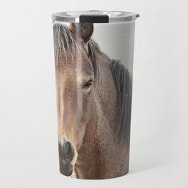 Horse Photograph, Soft Color Travel Mug