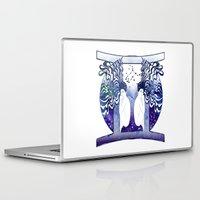 gemini Laptop & iPad Skins featuring Gemini by Stevyn Llewellyn