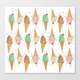 I Scream Pattern Canvas Print
