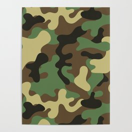 Classic Camouflage Pattern Poster