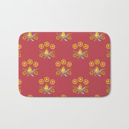 Waffle and Syrup (Raspberry Red) Bath Mat