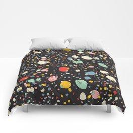 modern scandinavian multi-colour pebbles black Comforters