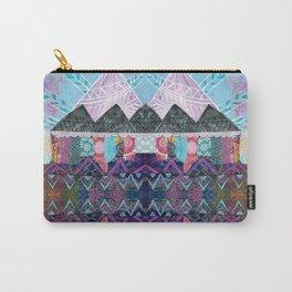 Purple Majesty Mountain Kaleidoscope Carry-All Pouch