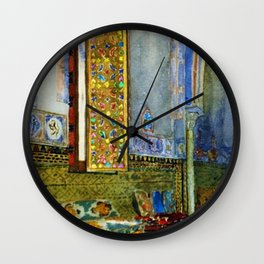 Near-Eastern Palace Interior Portrait by Louis Comfort Tiffany Wall Clock