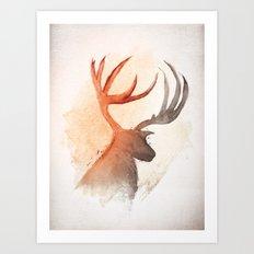 Sunlight Deer Art Print