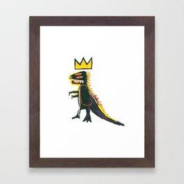 Dinosaur: Homage to Basquiat Framed Art Print