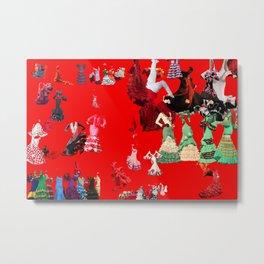 Chicas Flamencas - 3 Metal Print
