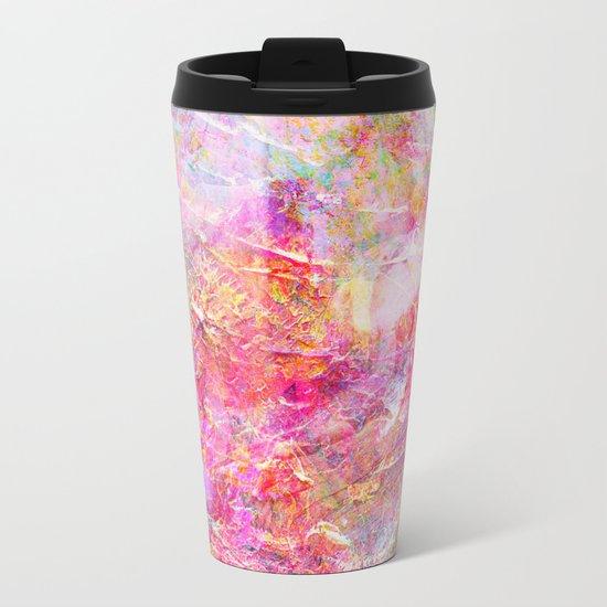 Serenity Abstract Painting Metal Travel Mug