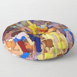 texture painting plot graffiti Floor Pillow