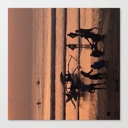 Sunset in Tauranga Canvas Print