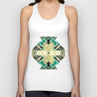 snake Tank Tops featuring Snake by SensualPatterns