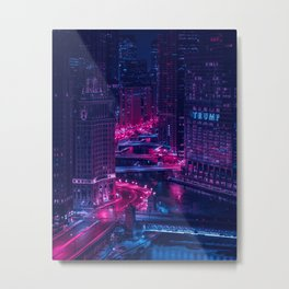 Chicago drawbridges Metal Print