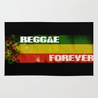 reggae Area & Throw Rugs featuring Reggae Is Forever II by F. C. Brooks