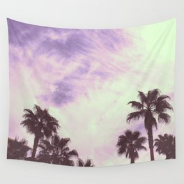 Palm Trees Over Vegas Wall Tapestry