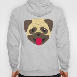 Smiling pug face Hoody