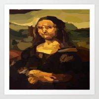 mona lisa Art Prints featuring Mona Lisa by Robert Morris