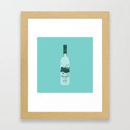 Grey Goose Blue Pop Art Framed Art Print