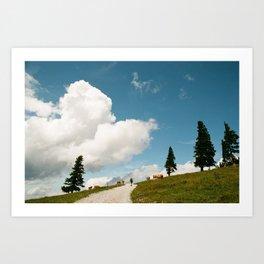 Hiking at the Annaberg, Austrian Alps Art Print