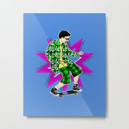 90s to the X-Treme Metal Print