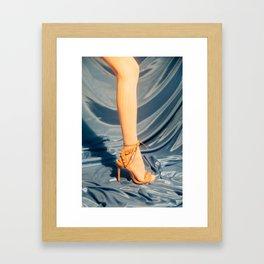 Stocking and High Heel Framed Art Print