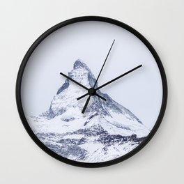 Matterhorn mountain peak  Wall Clock